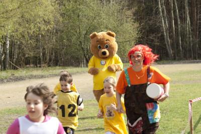 Maskottchen der Kinderintensivpflege Paulchen Sponsorenlauf